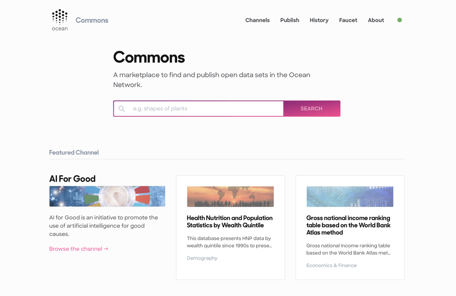 The Commons Marketplace in Pacific Network