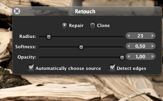 Retouch tool
