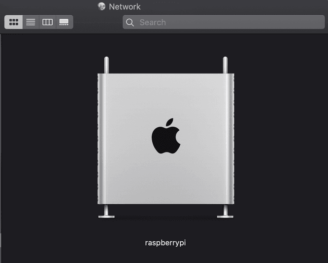 Raspberry Pi showing up as Mac Pro